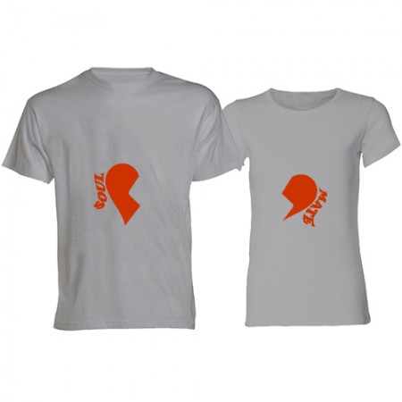 Giftsuncommon - Soulmate Printed Couple T Shirt